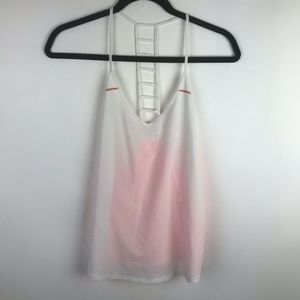Lululemon Breezy Singlet Tank White Grapefruit